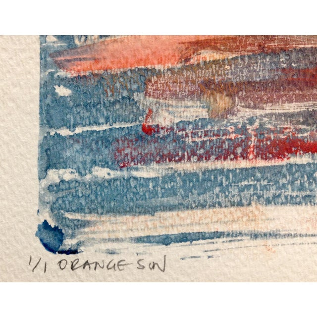 """Orange Sun"" Ink Print, 2016 - Image 3 of 4"