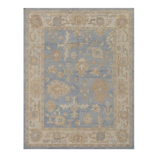 """Mansour Exceptional Oushak Rug - 7'2"""" X 9' For Sale"""