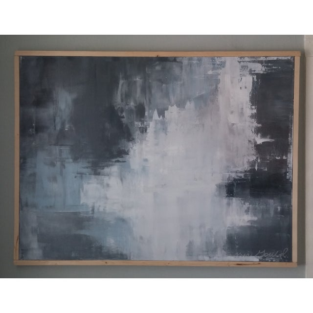 """Slate"" Framed Abstract Art by Kris Gould - Image 3 of 5"