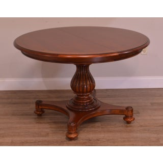 """Ethan Allen British Classics 46"""" Round Pedestal Base Dining Table Preview"""
