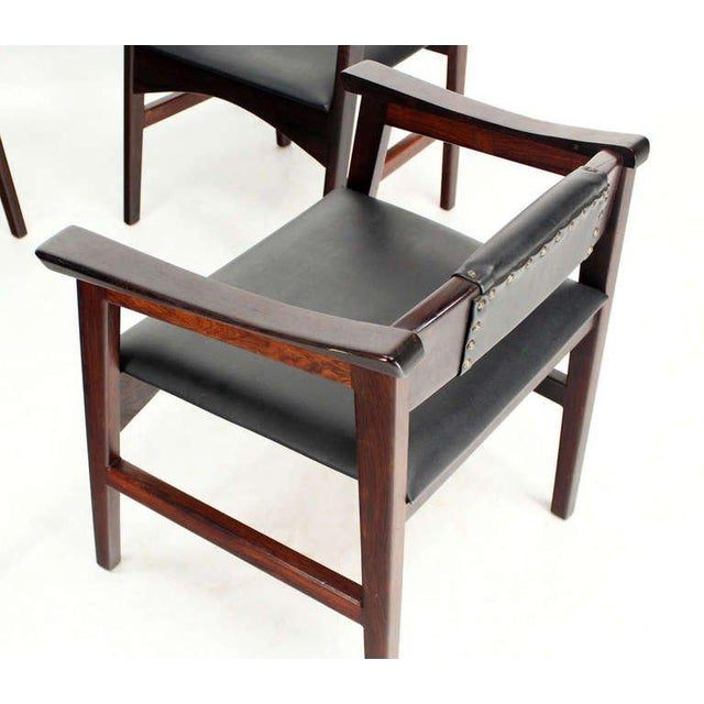 1960s Vintage Danish Mid-Century Modern Rosewood Dining Chairs - Set of 4 For Sale - Image 6 of 11