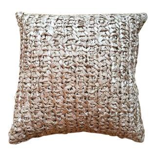 Square Woven Silk Ribbon Pillow