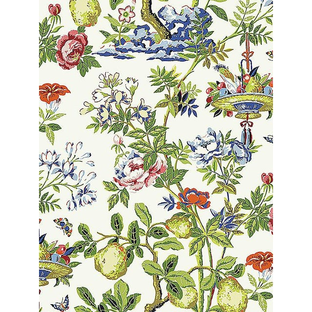Chinoiserie Sample, Scalamandre Shantung Garden, Bloom Wallpaper For Sale - Image 3 of 3