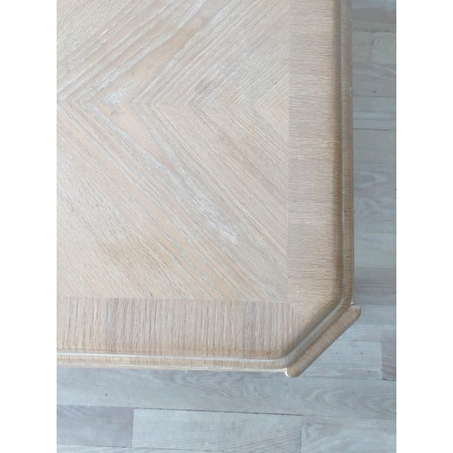 Tan 1980s Modern Tiered White-Washed Solid Wood Coffee Table For Sale - Image 8 of 10