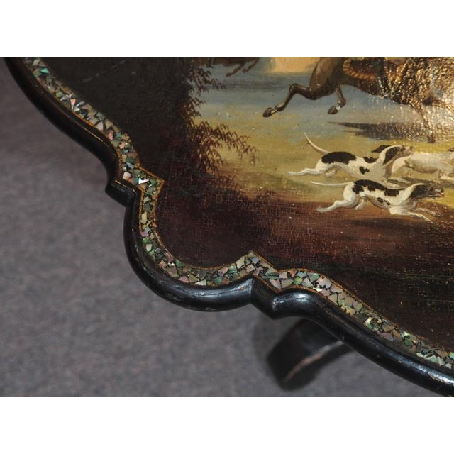 Antique English Victorian Coffee Table - Image 5 of 11