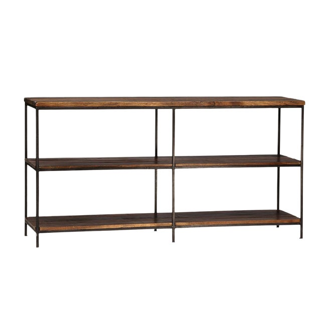 Reclaimed Wood & Iron Console Table - Image 1 of 2