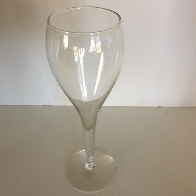 Modern Crisa Hand Blown Crystal Tulip Style Champagne Glasses - Set of 8 For Sale - Image 3 of 13