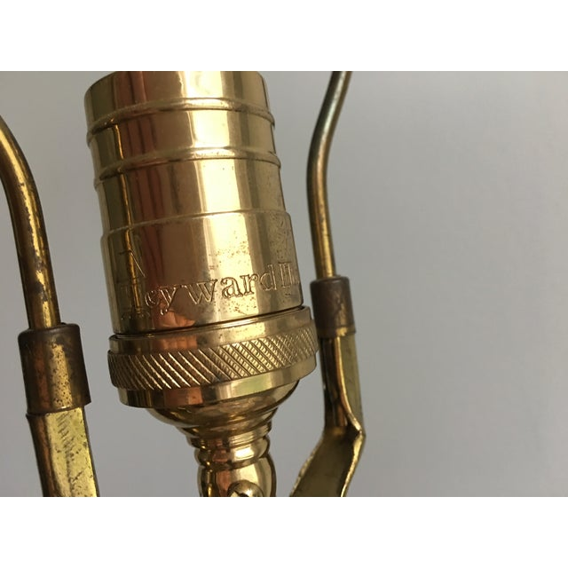 Brass Vintage Chinoiserie Gold Enameled Ginger Jar Table Lamp For Sale - Image 7 of 8