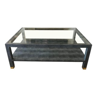 Lafeu Faux Shagreen Coffee Table by Made Goods For Sale