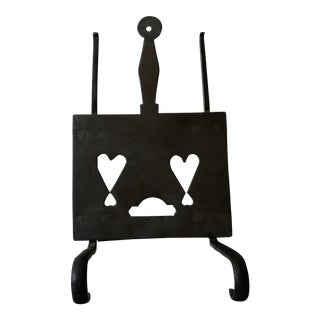 18th/19th Century Wrought Iron and Brass Kettle Trivet For Sale