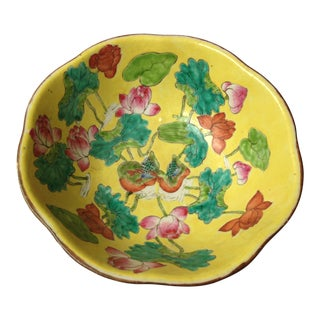 Antique Mid 19th Century Chinese Porcelain Circular Bowl For Sale