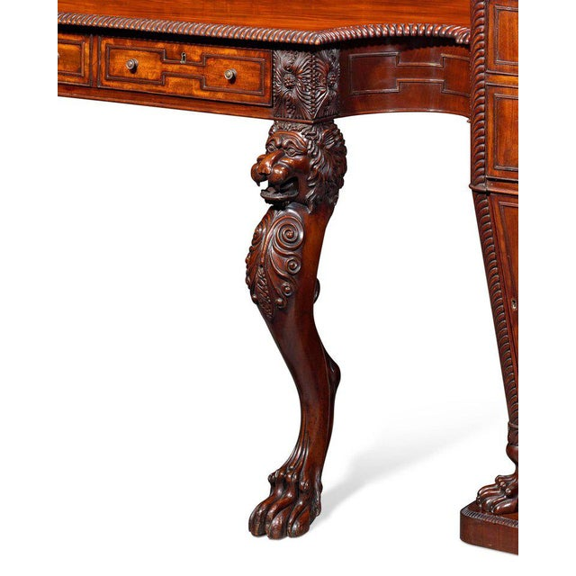 Regency Mahogany Pedestal Sideboard For Sale In New Orleans - Image 6 of 8