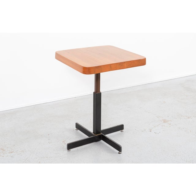 Les Arcs Adjustable Square Table by Charlotte Perriand For Sale - Image 11 of 11
