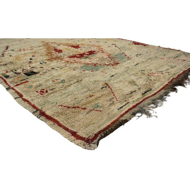 Boho Chic Vintage Berber Moroccan Azilal Rug with Tribal Style For Sale - Image 3 of 5
