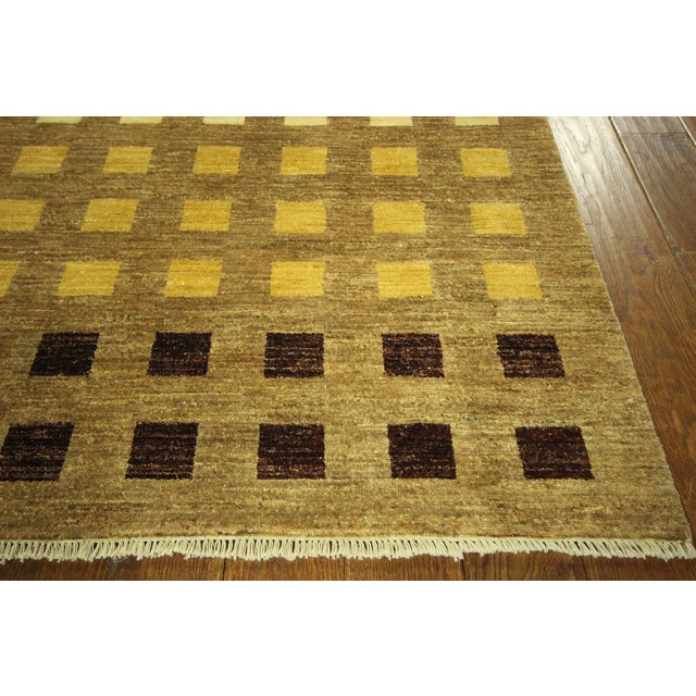"Gabbeh Checkered Wool Rug - 7'9"" x 9'8"" - Image 4 of 9"