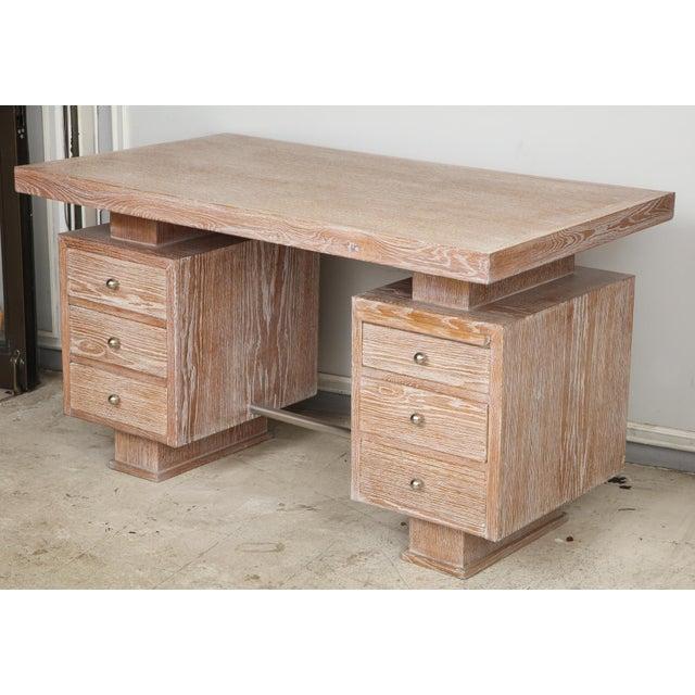 French cerused oak desk.
