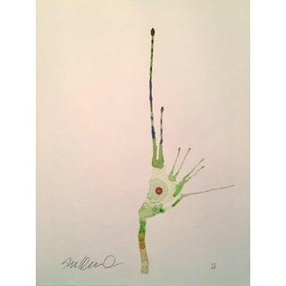 Contemporary Amphibious Botanical Original Watercolor For Sale