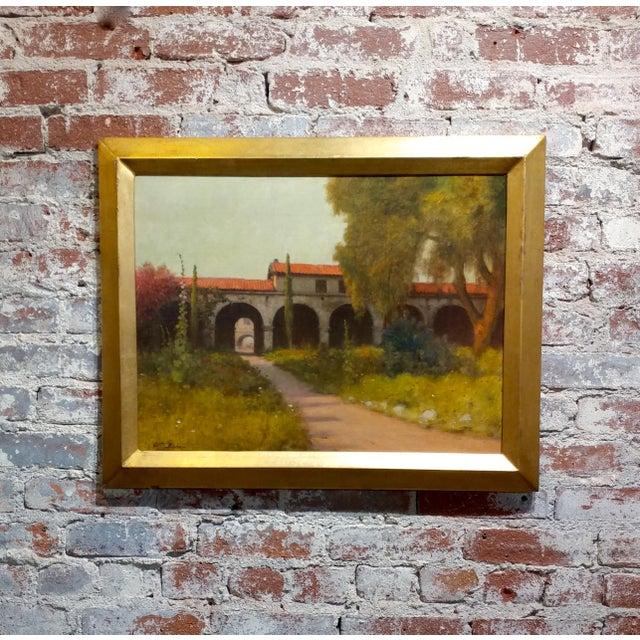 William Barr -Mission Capistrano c1920s -Impressionist California Oil painting For Sale - Image 10 of 10
