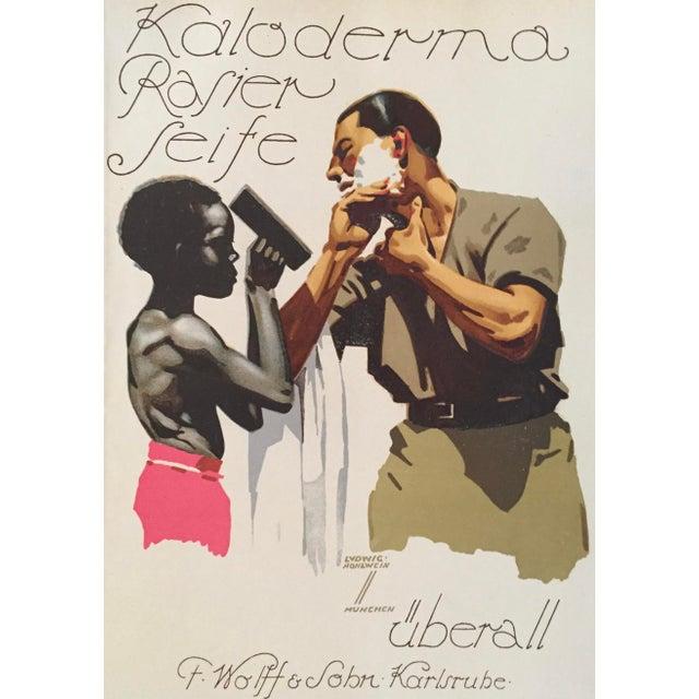 1927 German Art Deco Fashion Poster, Kaloderma Rasier Seife - Image 2 of 5