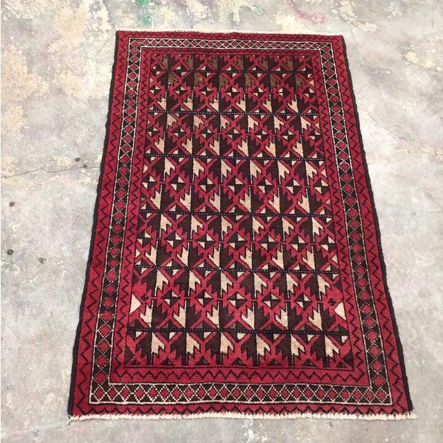 Balluchi Persian Handmade Rug - 2′11″ × 4′7″ - Image 2 of 8