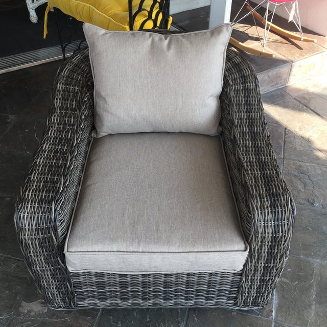 Woven Outdoor Lounge Chair - Image 3 of 7