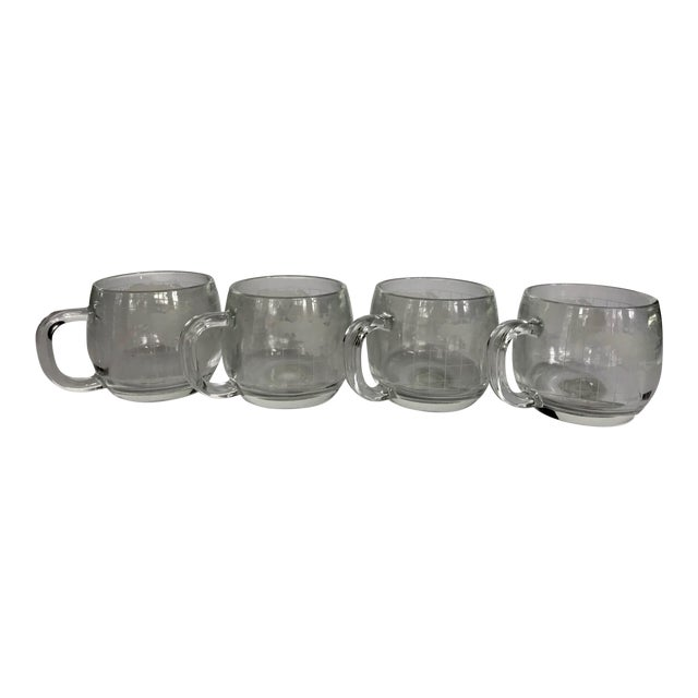 Vintage Nestle Colonial Cupboard World Map Coffee Cups - Set of 4 For Sale