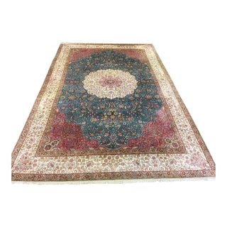 Turkish Silk Rug - 6′8″ × 10′3″
