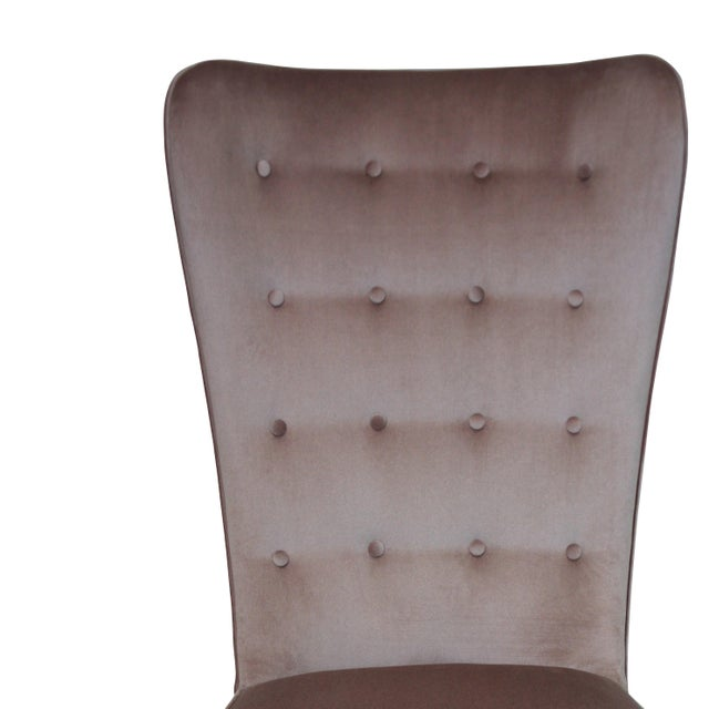 A Hollywood Regency Bedroom Chair For Sale - Image 4 of 5