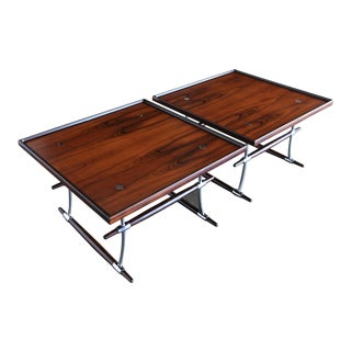 Jens Quistgaard Rare Pair of Rosewood Tables for Nissen Denmark, 1960 For Sale