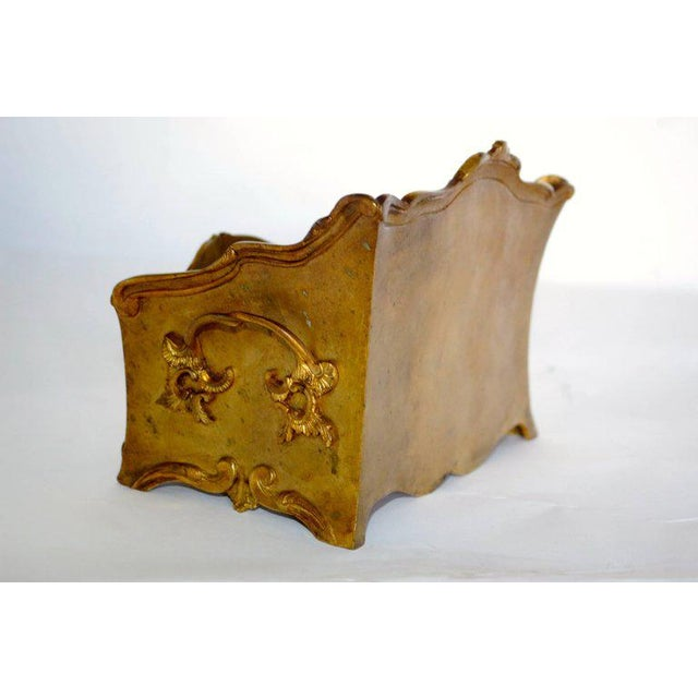 19th Century French Decorated Gilt Bronze Box - Image 7 of 11