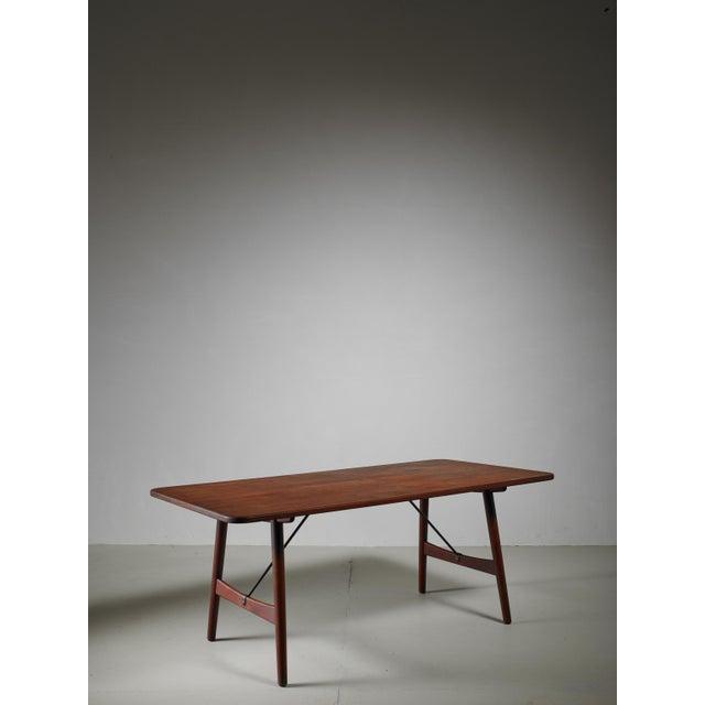 Mid-Century Modern Børge Mogensen Early Hunting Table for Søborg, Denmark, circa 1950 For Sale - Image 3 of 9