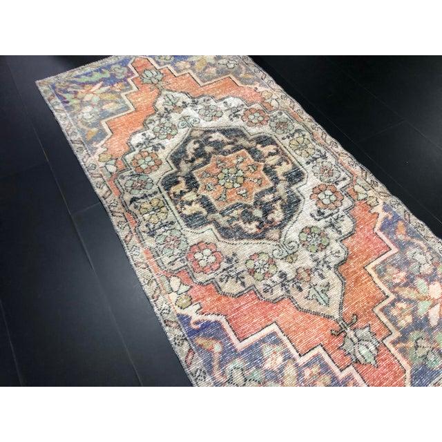 Textile 1960s Vintage Bohemian Turkish Handmade Rug- 3′5″ × 6′11″ For Sale - Image 7 of 11