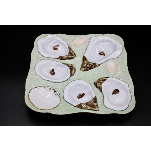 1960s Mint Green Oyster Plate For Sale - Image 10 of 12