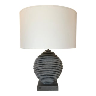Strata Slate SphereTable Lamp For Sale