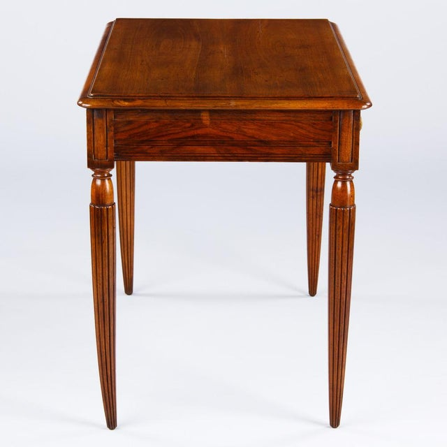 French Louis XVI Style Walnut Desk, Early 1900s For Sale - Image 9 of 11