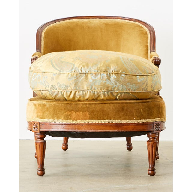 French French Louis XVI Style Chaise Longue Daybed For Sale - Image 3 of 13