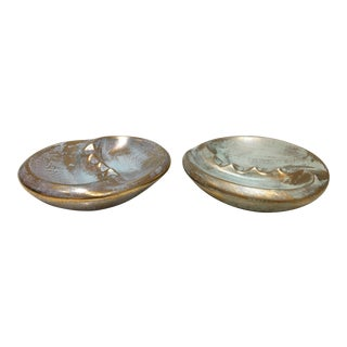 Mid Century Modern Ashtrays - a Pair For Sale