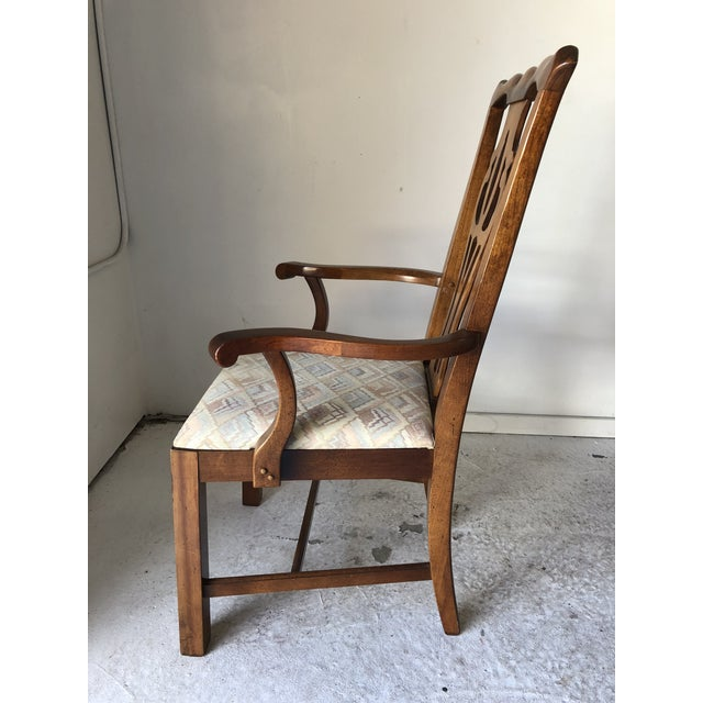 Wood Thomasville Dining Chair Set (6) Fruitwood Excellent For Sale - Image 7 of 9