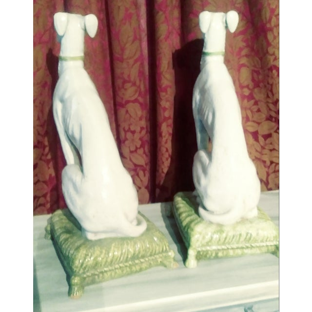 Vintage Italian Whippets Statues - a Pair For Sale - Image 4 of 11