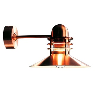 Louis Poulsen 'Nyhavn' Copper Outdoor Wall Lamp For Sale