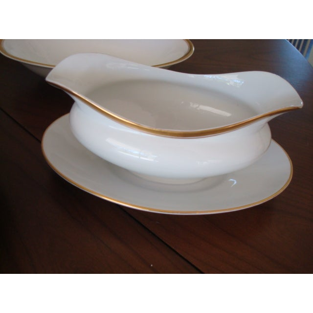 Gold And White Bavaria Dishes - Set of 30 - Image 10 of 11