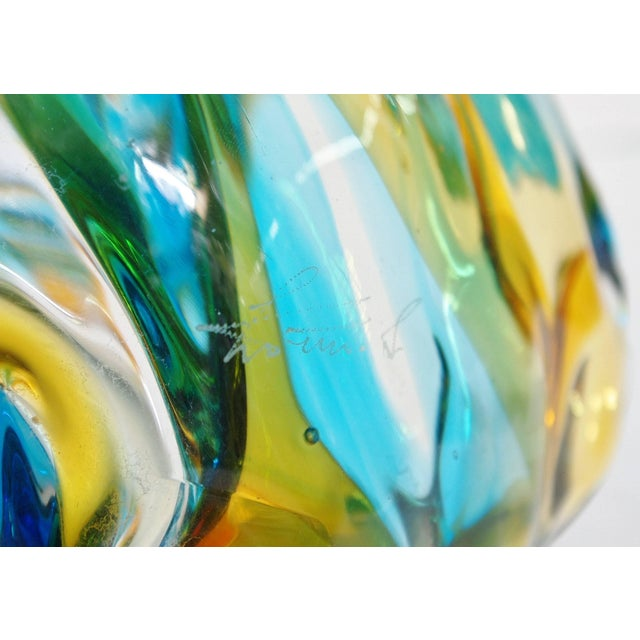 Murano Fish on Wave Sculpture by Sergio Costantini For Sale - Image 9 of 11