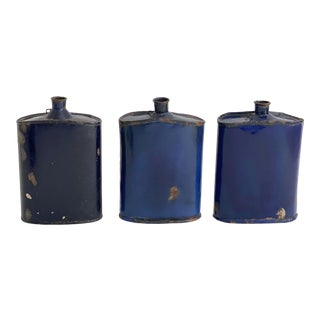 1950s Indian Military Enamel Canteens - Set of 3 For Sale