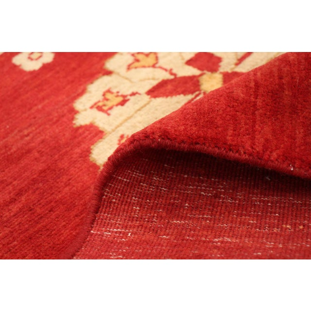 Red Hand-Knotted Red Rug For Sale - Image 8 of 9