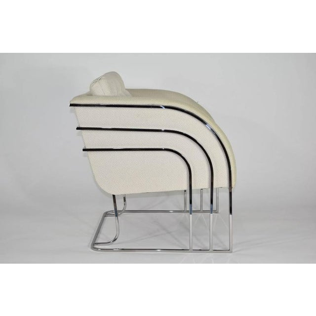 Chrome Milo Baughman for Thayer Coggin Lounge Chair For Sale - Image 7 of 8