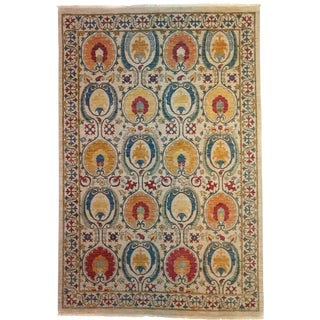 "Suzani Hand Knotted Area Rug - 6'2"" X 9'3"""