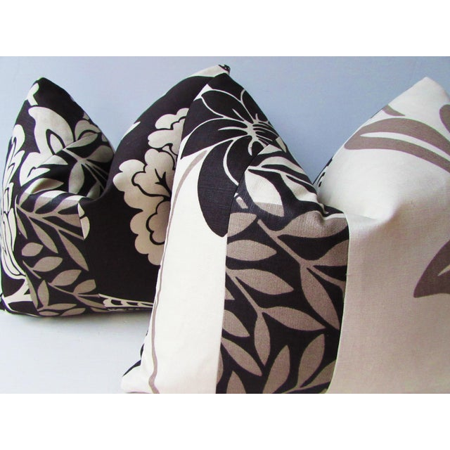 Romo Black & White Modern Floral Pillow Covers - a Pair For Sale - Image 6 of 8
