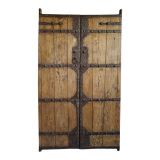 Old Mongolian Wood Doors For Sale