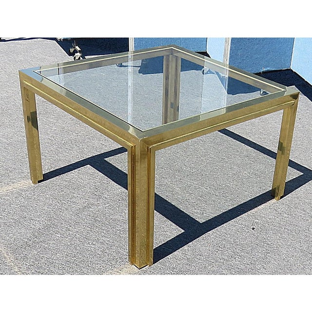 Mid-Century Modern Mid Century Willy Rizzo Coffee Table For Sale - Image 3 of 5