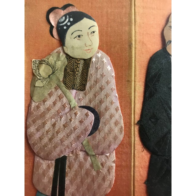19th Century Framed Chinoiserie Figures For Sale - Image 10 of 12